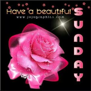 Have a beautiful Sunday..