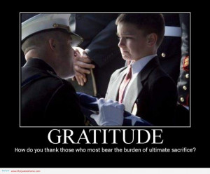 ... Memorial Day Quotes: Gratitude Is Important For Our Generation Quote