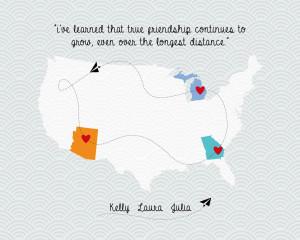 Quotes Friendship Long Distance ~ Digital file printable Long distance ...