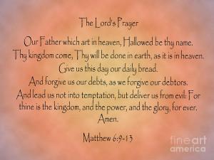 The Lords Prayer Matthew Bible Verse Digital Art