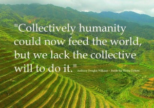 We could feed to world!