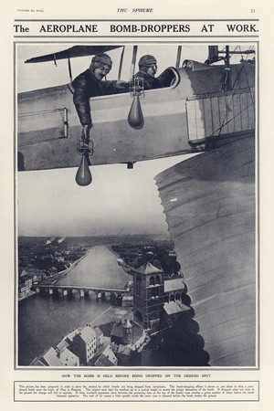 The Aeroplane Bomb-Droppers at Work, World War I