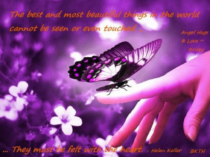 Butterfly Quote in Purple