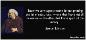 More Samuel Johnson Quotes