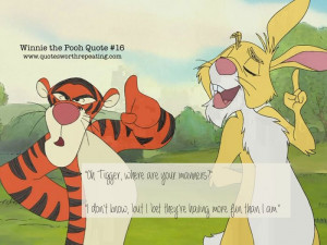 Oh Tigger, where are your manners?