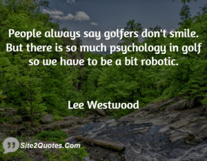 People always say golfers don 39 t smile But there is so much ...