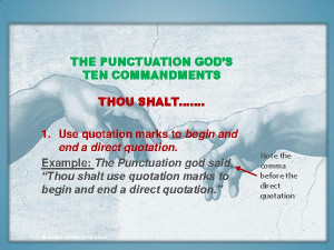 Powerful Punctuation...
