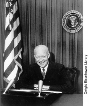 Dwight David Eisenhower (1890-1969), the 34th President of the United ...