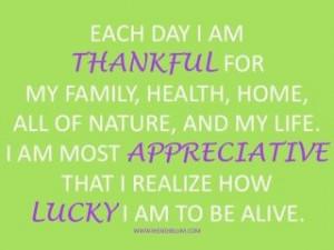 am Thankful~Appreciative~Lucky!