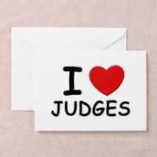 idea's for judges retirement   love judges Greeting Cards (Pk of 10 ...