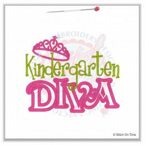 4901 Sayings : Kindergarten Diva Applique 5x7