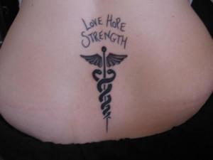 Left Wrist Infinity Love Strength Tattoo