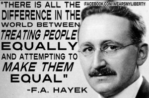 ... people equally and attempting to make them equal.