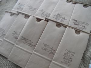Set of 10 - Wedding Favor Bags Kraft Paper Coffee bags Cookie Bags ...