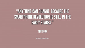 Anything can change, because the smartphone revolution is still in the ...