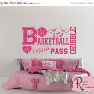 ... Basketball Girls Room Teen Girl Room Decor Wall Art Basketball Decor