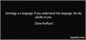 images of astrology quotes | Astrology is a language. If you ...