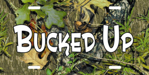 Bucked Camo License Plate Tag