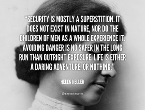 Security Mostly Superstition