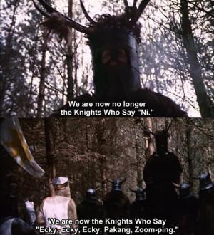 Monty Python Quotes Shrubbery Quotesgram