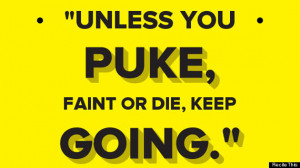 It shouldn't take puke to tell you when enough is enough. We're not ...