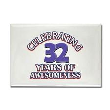 32nd birthday design Rectangle Magnet