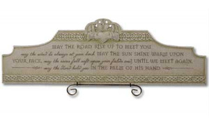 Irish Blessing Wall Plaque Findgiftcom