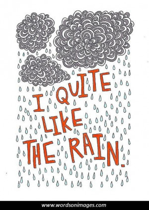 Quotes About Rainy Days