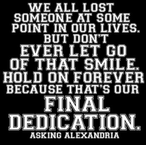 Asking Alexandria Dedication