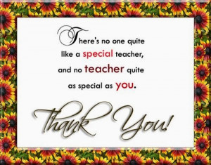 There's no one quite like a special teacher, and no teacher quite as ...
