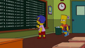 Bart Simpson Show Opening Chalkboard Quotes