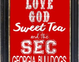 ... University of University of Georgia Bulldogs Football Print Art 8x10