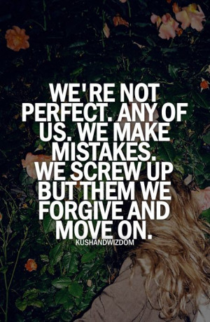 We're not perfect.