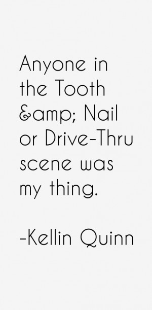 Anyone in the Tooth amp Nail or Drive Thru scene was my thing