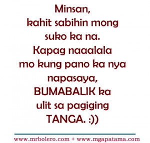 tanga love tagalog quotes Selos Quotes and Lambing Quotes