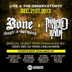 Bone Thugs N Harmony + Psycho Realm LIVE at the Observatory Dec 21st