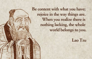 Lao Tzu Be Content with What You Have
