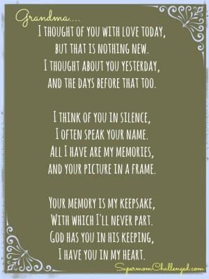 Missing Grandma Quote