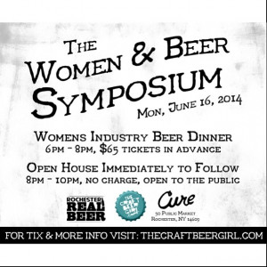 to making the Women & Beer Symposium a part of Rochester Real Beer ...