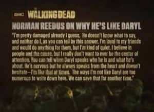 The Walking Dead Norman Reedus Quote