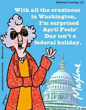 Maxine on April Fools' Day