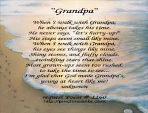 Happy Birthday Grandpa Poems Grandfather poem