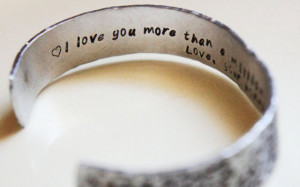 ... Cuff Bracelet Hidden Message - Mens Gift for Him Fathers Day