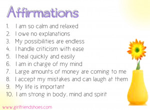 Printable Affirmations For Women