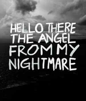 black and white, blink 182, miss you, nightmare