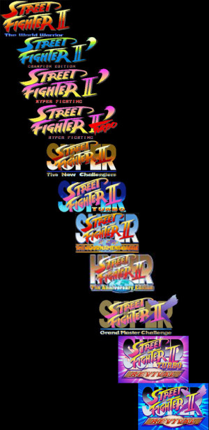 So many Street fighter 2 games to reach SF3...