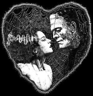 bride of frankenstein, creature, frankenstein, love, monster