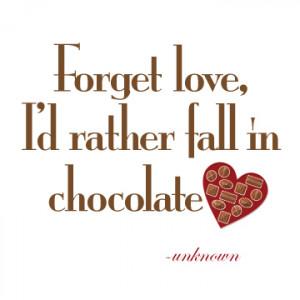 love chocolate quotes quotesgram