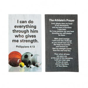 Athlete's Prayer before a competition
