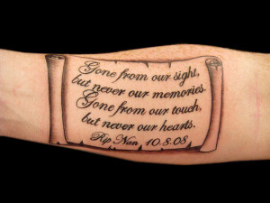 Old Style Memoriam Tattoo Idea